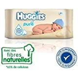 Huggies Baby Wipes Pure 64 Count Refills Case of 10 Packs=640 Wipes by Baby (English Manual)
