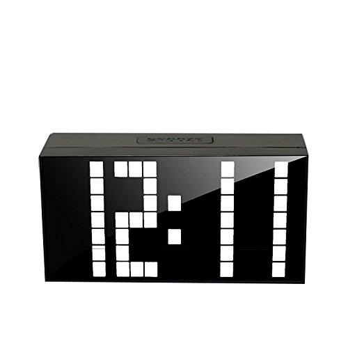 LambTown LED Digital Wecker Schlafzimmer Snooze Uhr Wanduhr Tabelle Timer Große LED Anzeige Show Time Kalender Thermometer Weiß