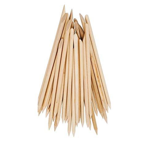 Fliyeong Premium 100 stücke Nail art Orange Holz Stick Nagelhautschieber Entferner Maniküre Pflege Werkzeug