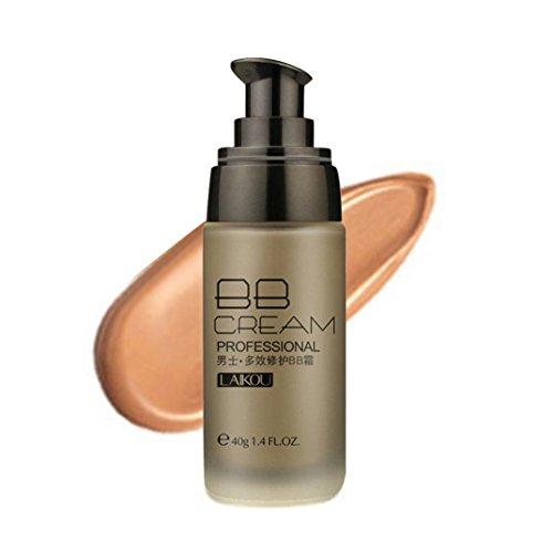 Mâle BB Cream Blé Couleur Bronze 40g Anti-Cernes Etanche Rawdah Beauté Make-Up Correcteur Imperméable à l'Eau De 40g De Crème De Blé de BB Pour Hommes (A)