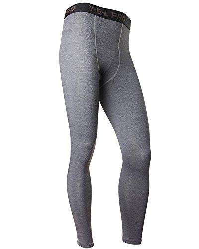 sportivi-leggings-a-compressione-uomo-base-strato-termico-fintess-pantaloni-grigio-m