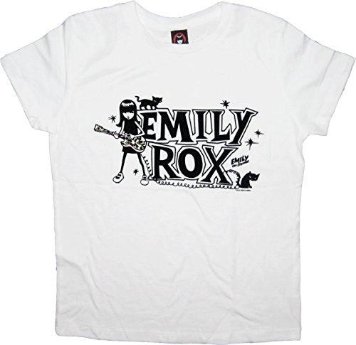 Emily the Strange EMILY ROX weiß Junior T-Shirt - Medium