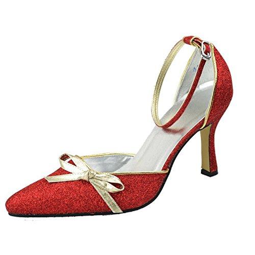 Kevin Fashion , Chaussure de mariée fashion femme Rouge