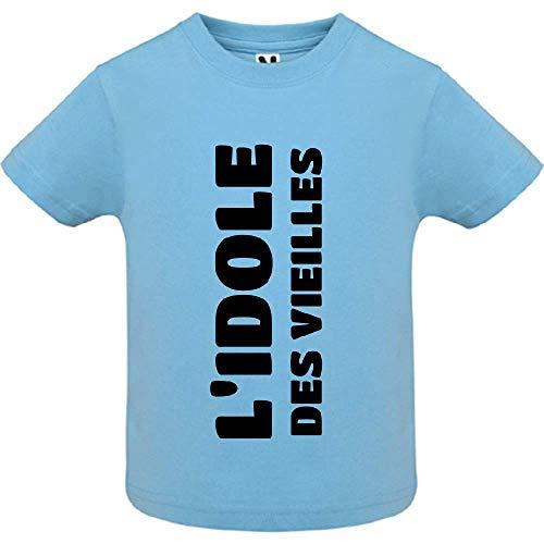 LookMyKase T-Shirt - L Idole des Vieilles - Bébé Garçon - Bleu - 18mois