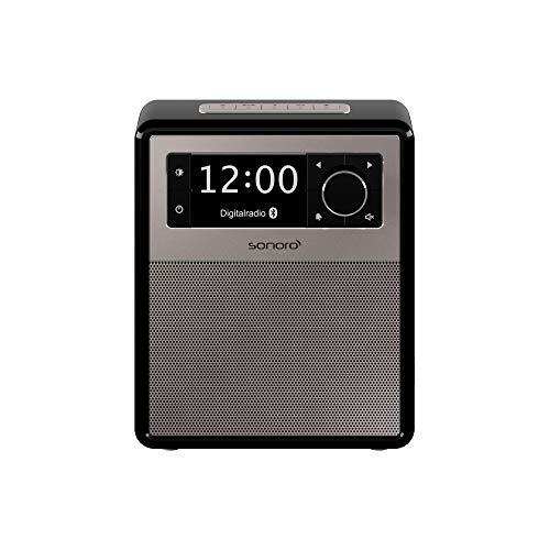 sonoro Easy Digitalradio (UKW/FM/DAB+, AUX-in, USB, Bluetooth) Schwarz - Tragbarer Radio-Wecker