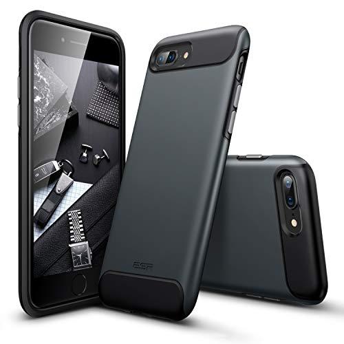 ESR iPhone 8 Plus Hülle, Hybrid [Bumper Doppelschicht] Schutzhülle, [Stoßfest, Antirutsch] Matt Panzer Robuste Handyhülle für Apple iPhone 8 Plus 5.5 Zoll.