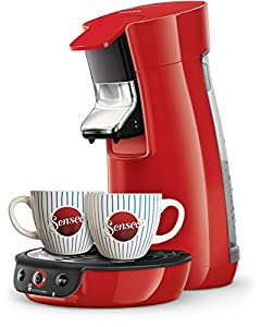 Senseo Viva Café HD6563/88 coffee maker Countertop Pod coffee machine 0.9 L Manual Viva Café HD6563/88, Pod coffee machine, 0.9 L, Coffee pod, 1450 W, Black,Red