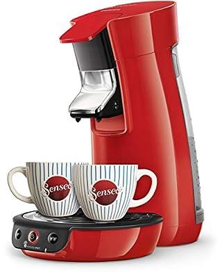 Senseo Viva Café HD6563/88 coffee maker Countertop Pod coffee machine 0.9 L Manual Viva Café HD6563/88, Pod coffee machine, 0.9 L, Coffee pod, 1450 W, Black,Red