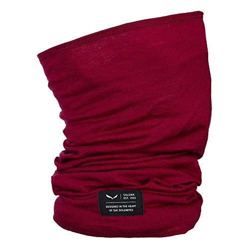 Salewa, icono merino necktube, fascia multifunzionale da alpinismo e mountain lifestyle, uomo, rosso (royal red), taglia unica