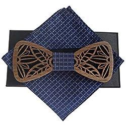 Noeud de bois naturel Nœud papillon en bois Tailler des motifs ou des motifs sur des menuiseries Costumes classiques Oren Accessoires de mariage décontracté Vert bois vrai bois Noeud papillon Noeud pa