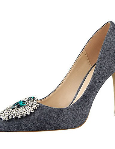 WSS 2016 Chaussures Femme-Décontracté-Noir / Vert / Rose / Violet / Rouge / Gris / Orange-Talon Aiguille-Talons-Talons-Laine synthétique gray-us8 / eu39 / uk6 / cn39