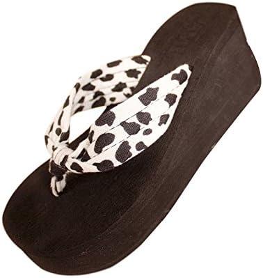 Calzado de mujer,Amlaiworld Cuñas de la plataforma Inicio Zapatillas leopardo