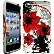 impexo Apple iPod Touch 4 4th Generation Case Cover Skin Pouch Shell Peach Floral Pattern Soft Unbreakable TPU Protection Gel