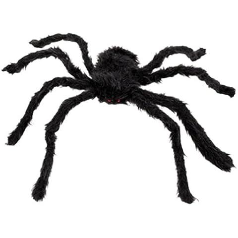 Boland 74394 - Ragno Peloso, Nero, 65x50 cm - Hairy Spider Decoration