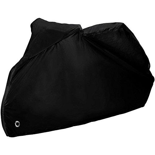 Zacro-245-x-105-x125m-XL-Housse-de-Protection-pour-Moto-Couvertures-Housse-de-moto-Couverture-Impermable-avec-Aissu-de-polyester-190T-pour-Moto-Scooter-protge-de-la-pluie-soleil-poussire-Noire
