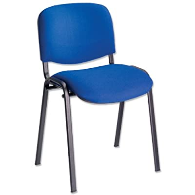 Trexus Stacking Chair with Seat W530xD590xH820mm Blue produced by Trexus - quick delivery from UK.