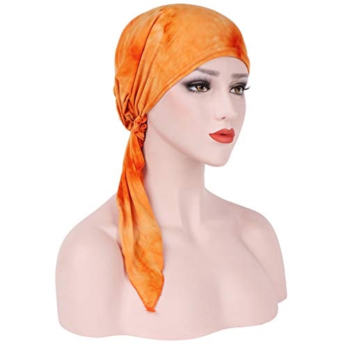 juqilu Turban Headwear Hut Frauen Muslim Hut Beanie Cap, Gebunden Bandana Headwear...