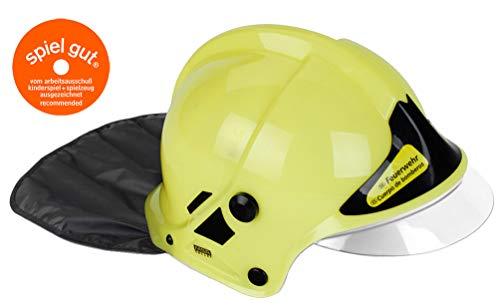 Theo Klein 8903 - Feuerwehrhelm mit Visier, Spiel, Neon (Feuerwehr Helm Kinder)