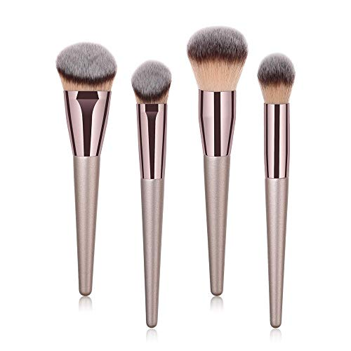 love+djl Make-Up Pinsel 4/9 / 10Pcs Champagner Gold Make-Up Pinsel Set Professionelle Puder Rouge Mixer Pinsel Professionelle Beauty Tools @ 9_Piece