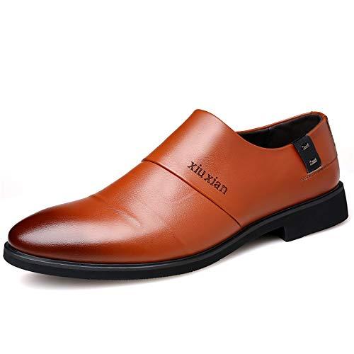Lackleder Klassische business oxford schuhe für männer aus echtem leder formelle kleidung mode bequeme müßiggänger vegan höhe zunehmende rutschfeste runde zehe slip-on Abendgarderobe Dress Schuhe Plain Toe Slip