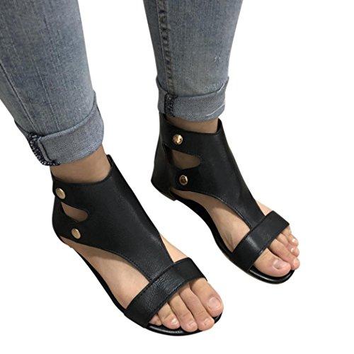 Sandalias de verano para hombre,Sonnena Los hombres raya plana zapatillas de baño de verano sandalias de interior y al aire libre zapatillas de hogar y playa