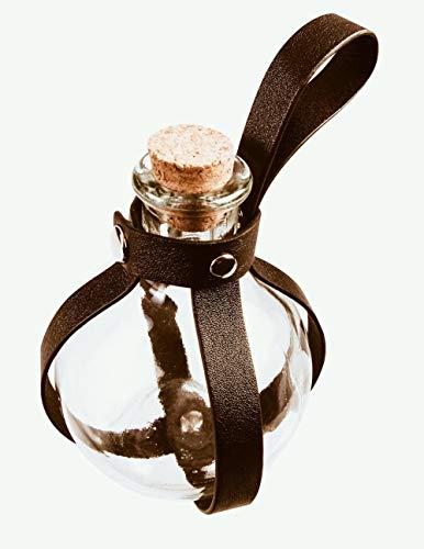 Kostüm Herr Ringe Der Cosplay - shoperama Zaubertrank Flasche mit Gürtelschlaufe Hexer Accessoire Kostüm-Zubehör LARP Cosplay