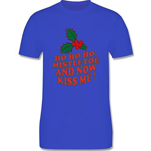 Weihnachten & Silvester - Ho Ho Ho, Mistletoe and now kiss me - Ho Ho Ho, Mistelzweig - küss mich endlich - Herren Premium T-Shirt Royalblau