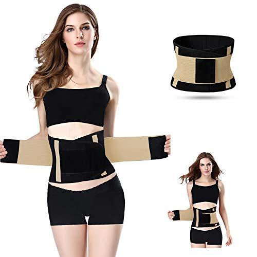 Jueachy Cinturón de Cintura para Mujeres, Cinturón Transpirable Cintura Cuello Trimmer Faja Moldeadora Grasa de Grasa Quema para Adelgazar el Vientre para Perder Peso (Beige, S(Abdomen:60-69cm))