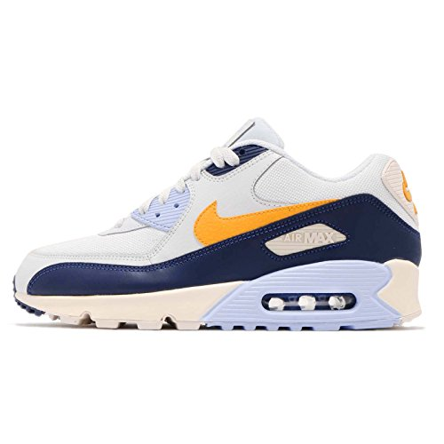 Nike Herren Air Max 90 Essential Gymnastikschuhe Gold (Pure Platinum/Yellow Ochre/Blu 008) 44 EU