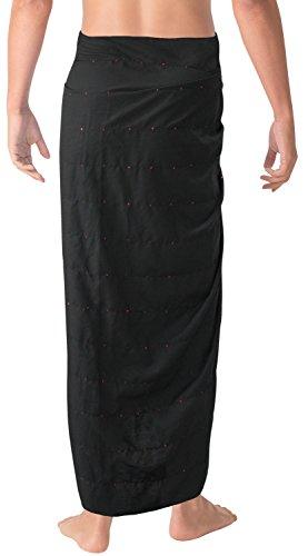 La Leela sanfte weiche Rayon Pailletten bestickt Männer Sarong Badebekleidung Wrap 78x41inch Tunika Rosa