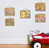 ZBYLL Wand Aufkleber DREI Schweine Veranda Schlafzimmer kleiderschrank Bett Kindergarten dekorative Wand Aufkleber