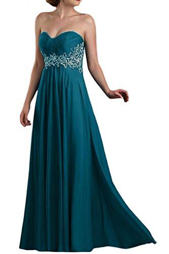 Toscane mariée pages forme longue de soirée en chiffon abendkleider promkleider forme de boule Bleu - Tinte Blau