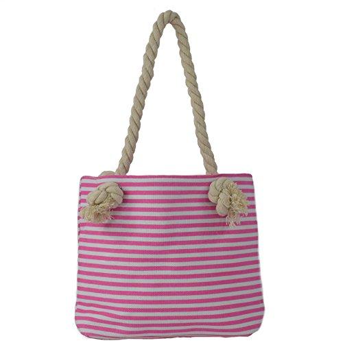 Sonia Originelli XS Shopper Stern Sarah Einkaufstasche Tasche Bag Farbe Grau-Rosa Rosa-Marine