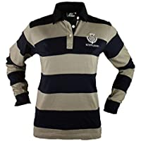 Scotland Ladies Cotton Long Sleeve Thistle Embroidered Rugby Shirt