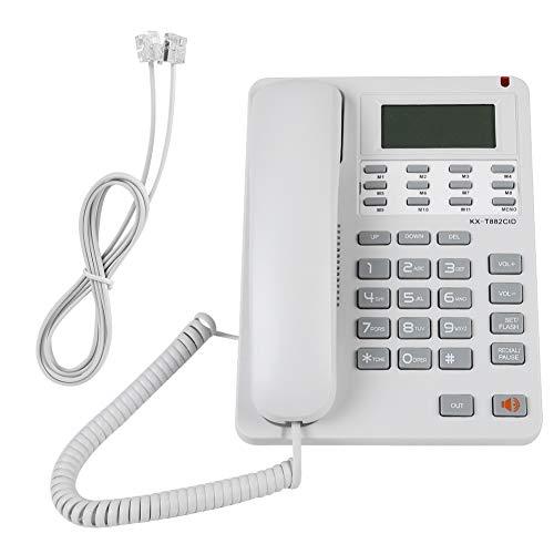 Tihebeyan Teléfono con Cable, Pared compacta o teléfono de Mesa, con luz LED y rellamada del último número