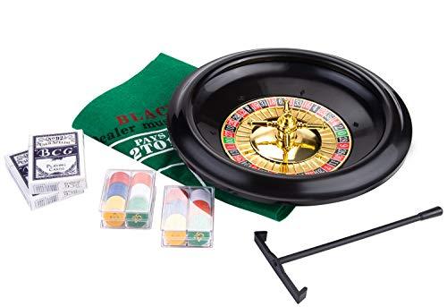 Engelhart Set de Jeu de Casino : Roulette 12 '' et Black Jack