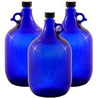 LGL Haushaltswaren GmbH 3 x 5 Liter Glasballonflasche in blau Gallone