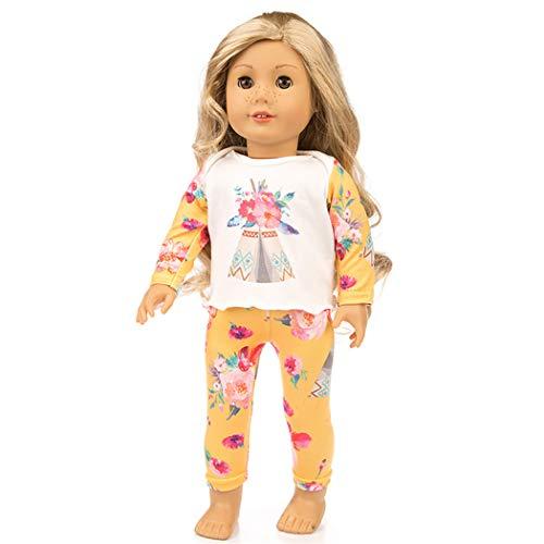 Zolimx Schöne Pyjamas-Kleidung für 18-Zoll-American Doll Zubehör Mädchens Spielzeug