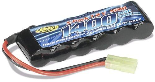 Carson 500608103 - Batteria 7,2V / 1400 mAh 2 /3 AA Mini Tamiya