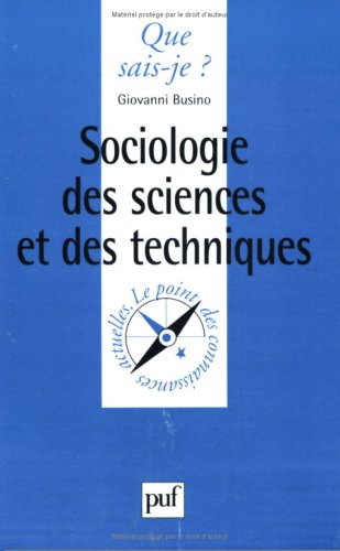 Sociologie des sciences et des techniques