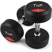 Accesorios de hierro fundido TNP 2 x 4 kg mancuernas=8 kg peso mancuernas cromo