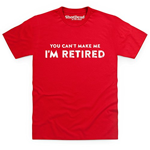 Retirement T-Shirt, Herren Rot