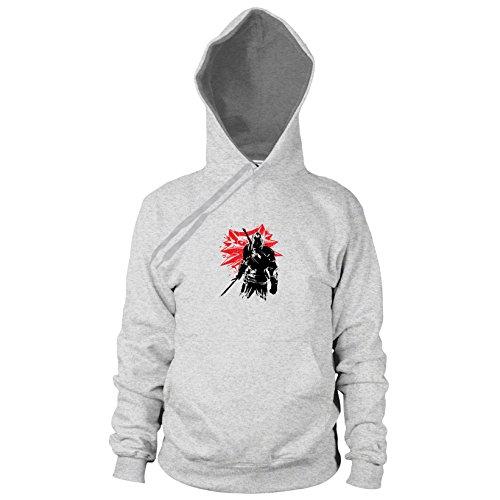 Geralt - Herren Hooded Sweater, Größe: XXL, Farbe: grau meliert