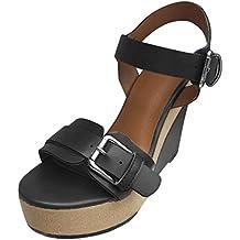 4306da8e3 Sandalias Mujer Verano Sandalias TacóN de CuñA Alta Plataforma Correa de  Tobillo Peep Toe Zapatos CóModo