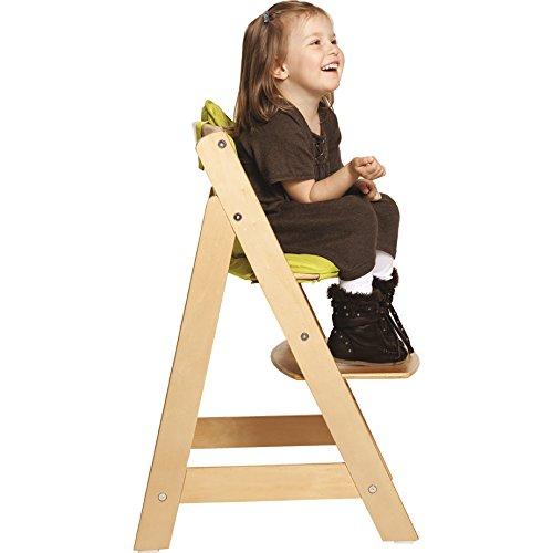 roba Treppenhochstuhl Sit Up III, mitwachsender Hochstuhl vom Babyhochstuhl bis zum Jugendstuhl, Holz, naturfarben - 3