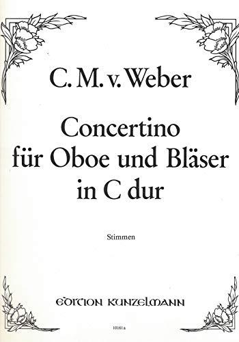 Carl Maria von Weber - Concertino C-Dur für Oboe und Bläser - Stimmen