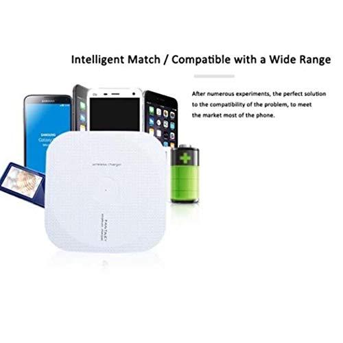QENCI Swiftt Carga inalámbrica ultrarrápida Inteligente de Carga rápida para teléfono móvil para Samsung para Nokia para Huawei para iPhone
