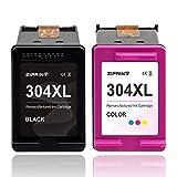 ZIPRINT Compatible HP 304XL HP 304 XL Cartouche d'imprimante 2 Multipack pour HP DeskJet 2622 2633 2634 3720 3730 3733 3735 3750 3760 3762 3764 AIO Envy 5010 5020 5030 5032 AIO AMP 130