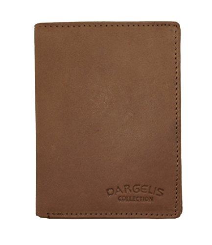 Herren Portemonnaie aus weichem echtem Leder im Hochformat robuste Geldbörse Ledergeldbörse Geldbeutel Beige 5600 (Beige)