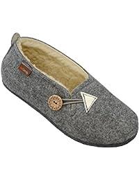 Giesswein - Zapatillas de estar por casa de fieltro para mujer, color Beige, talla 44.5